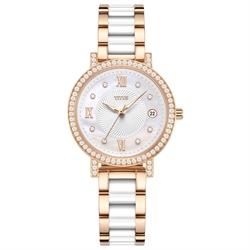 Fiar Lady三针日期显示不锈钢配陶瓷腕表(W06-03191-002)