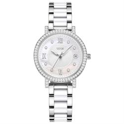 Fiar Lady三针日期显示不锈钢配陶瓷腕表(W06-03191-001)